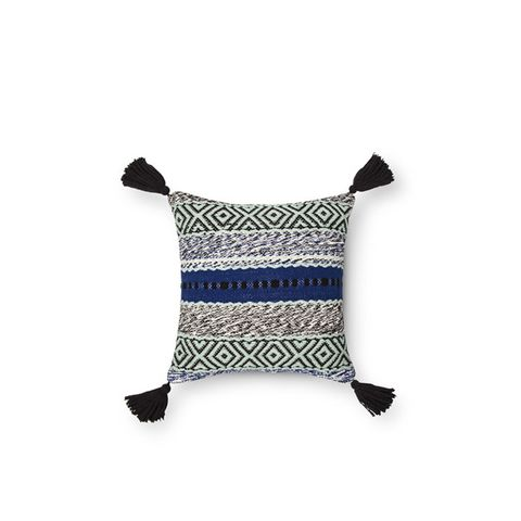 Blue Stripe Throw Pillow