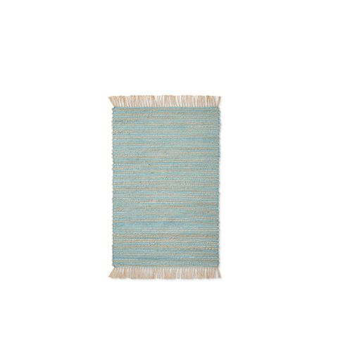 Aqua Stripe Accent Rug