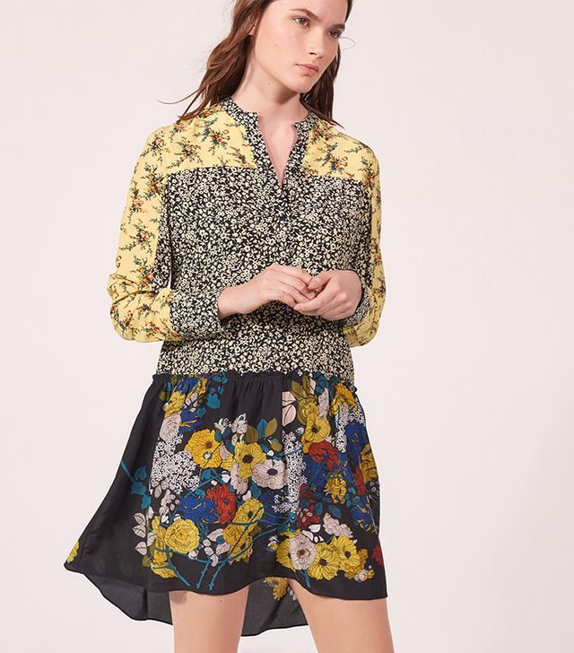 Sandro Florall Patchwork Dress