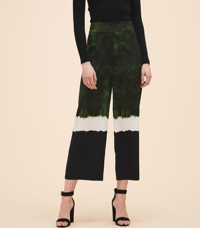 Maje Wide Tie-Dye Print Trousers