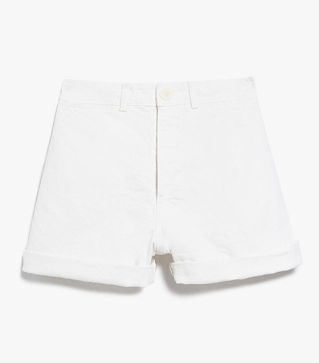 best white shorts- Jesse Kamm Cut Offs in Salt White