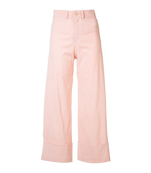 best pink pants- Sea Wide Leg Trousers