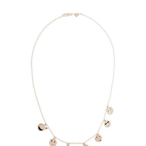 Enameled 14-Karat Gold Necklace