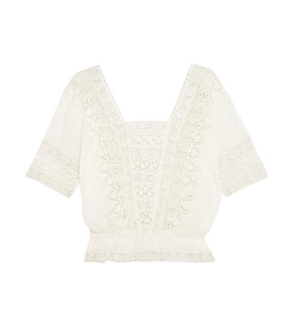 best white crochet top