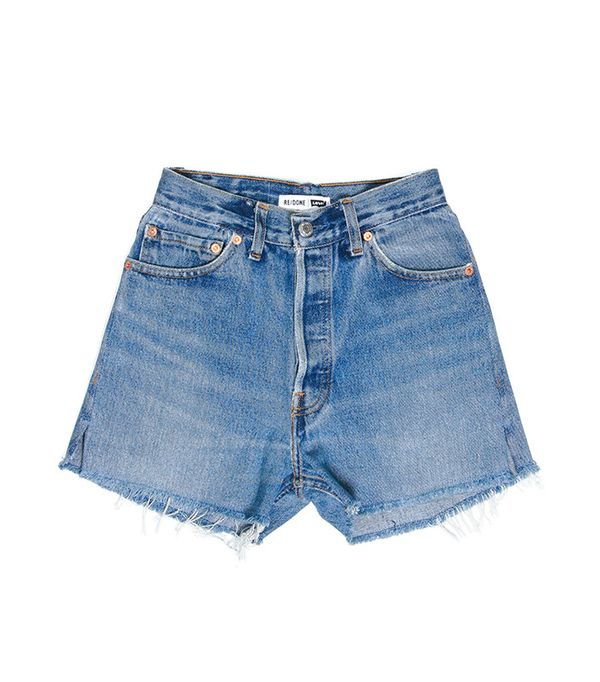 redone high rise shorts