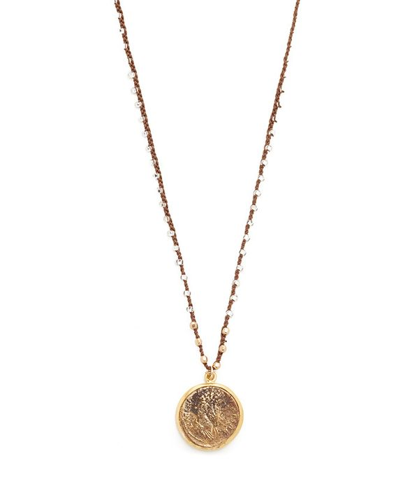 best coin necklace- native gem Roman Fortuna Coin Necklace