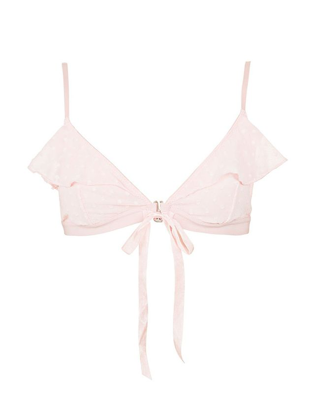 Topshop Front Fastening Dot Triangle Bra