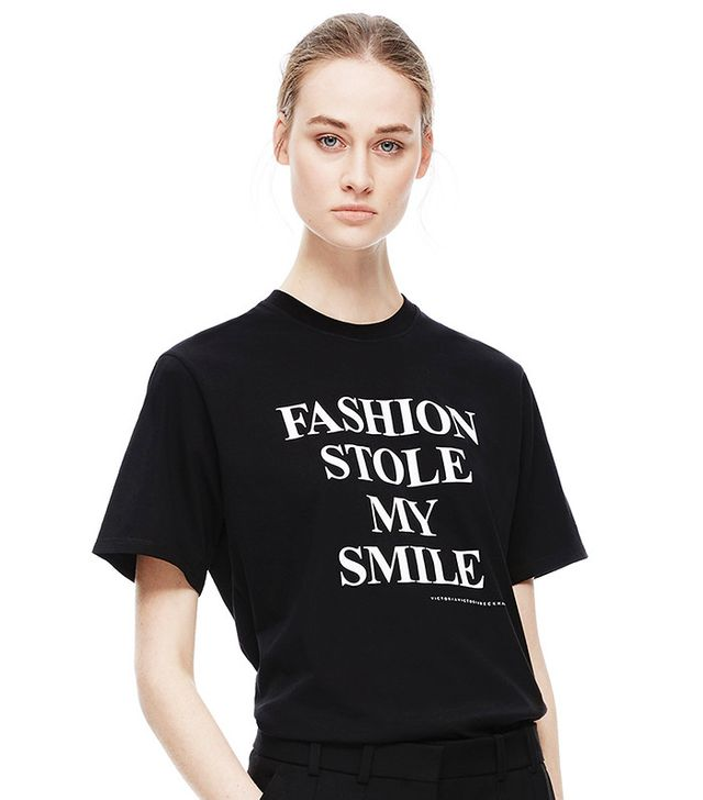Victoria Beckham Fashion Stole My Smile Tee