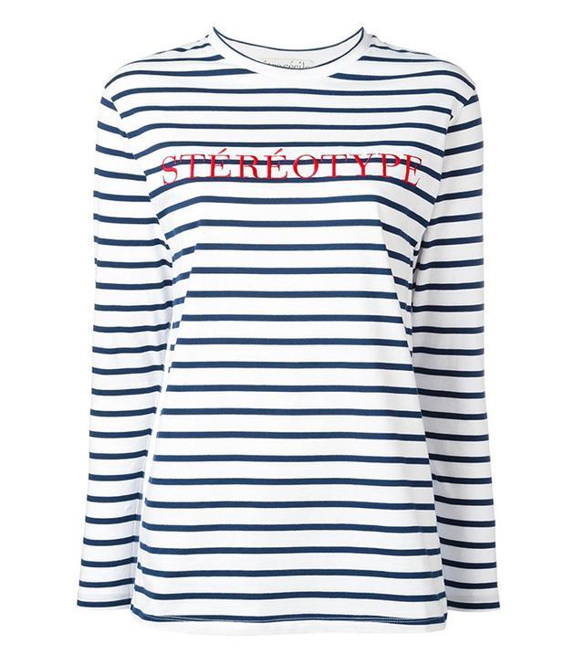 Être Cécile Stéréotype Embroidery T-Shirt