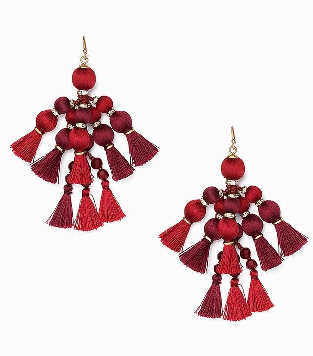 Kate Spade Pretty Pom Pom Tassel Earrings