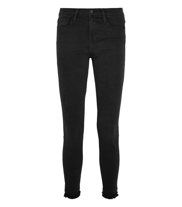 cute tshirt outfits - Frame Le Skinny De Jeanne High Rise Jeans