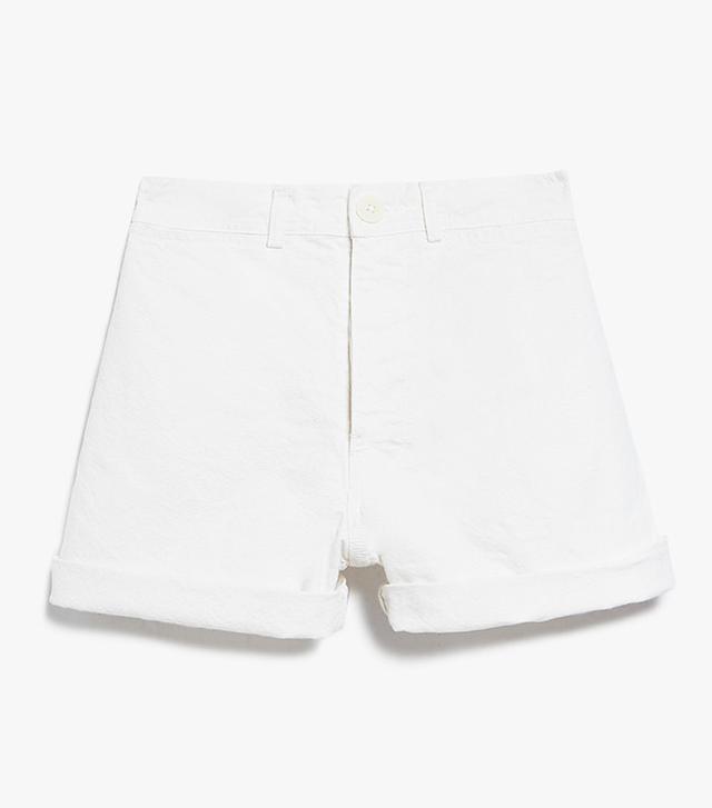 best white shorts- Jesse Kamm Cut Offs in Salt White
