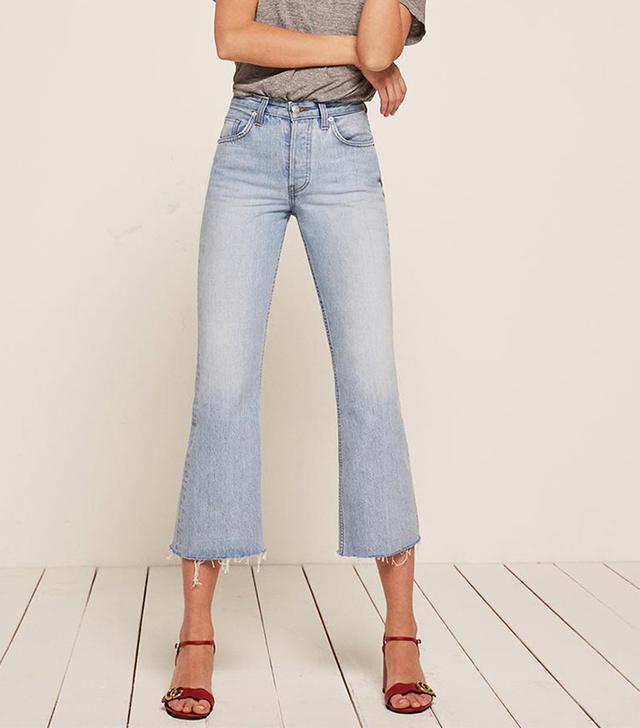 best crop flares- Reformation Mid Crop Flare jeans