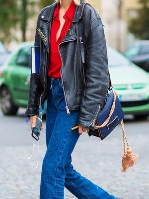The 2 Coolest Ways Uni Girls Style a Moto Jacket