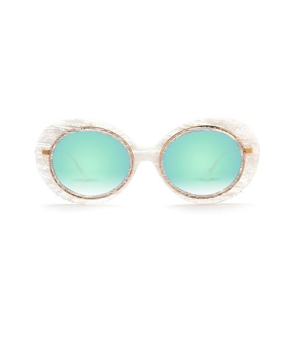 krewe white sunglasses