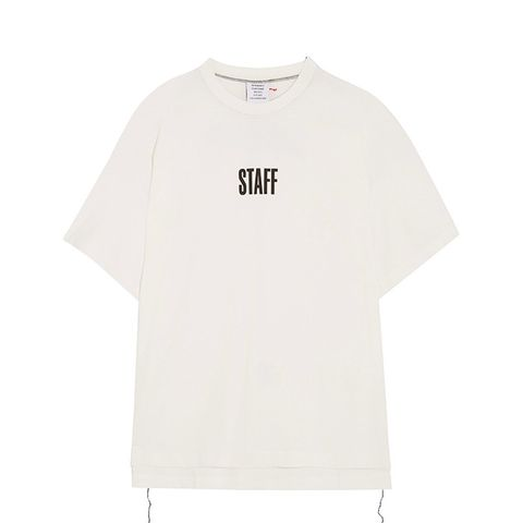 + Hanes Staff Oversized Printed Cotton-Jersey T-Shirt