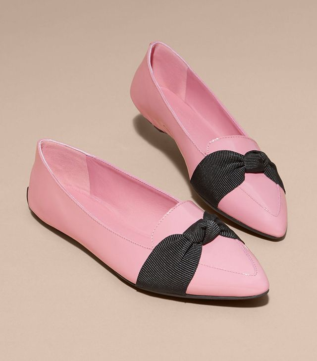 Burberry Patent Leather Loafers With Grosgrain Bow