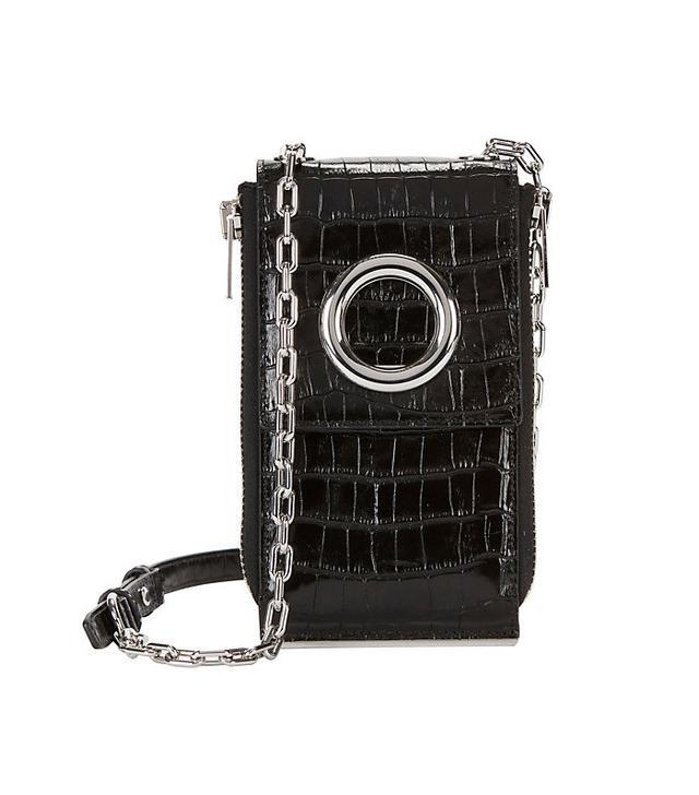Alexander Wang Riot Croc Embossed Leather Wallet Shoulder Bag