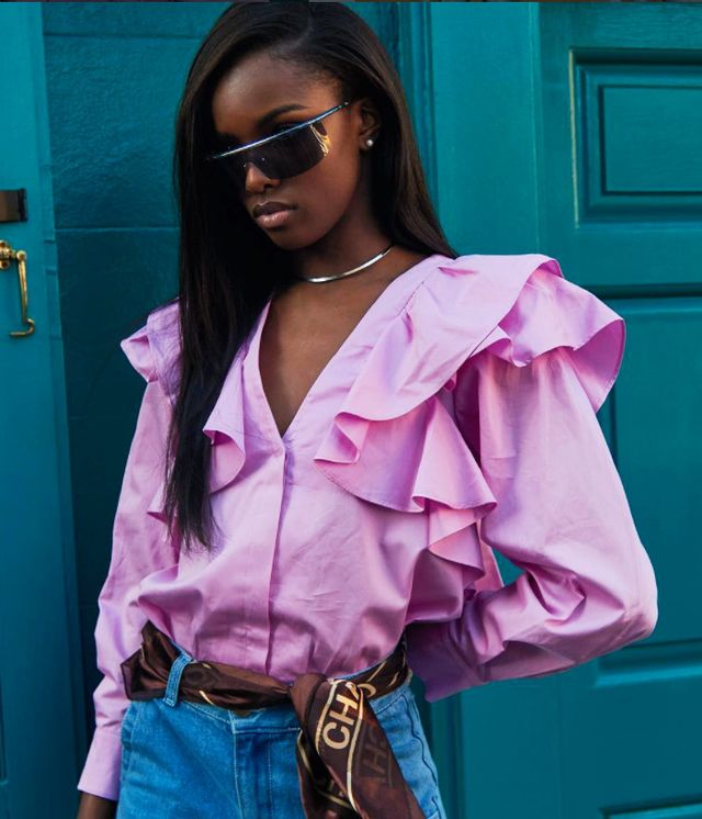how to shop H&M: Leomie Anderson