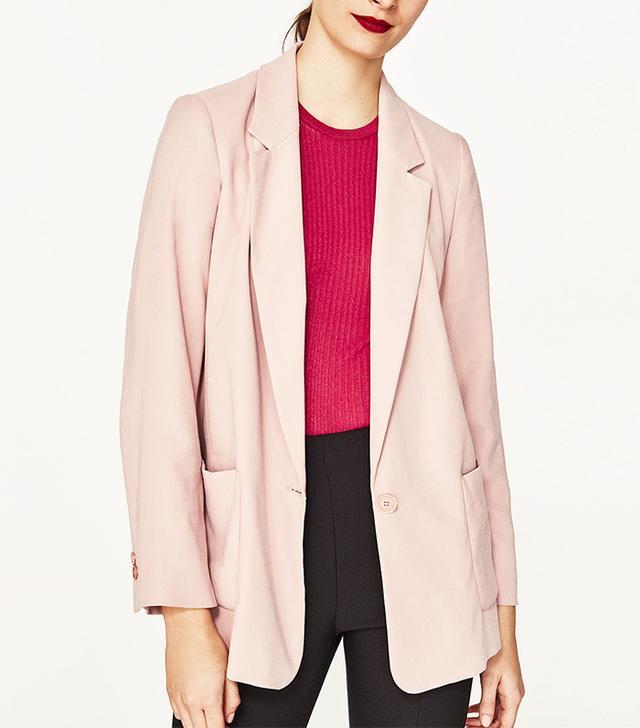 French girl wardrobe - Zara Flowing Blazer