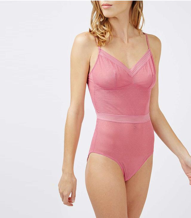 French girl wardrobe - Topshop Lizzie Mesh Bodysuit