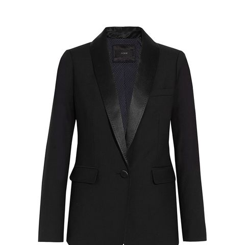 Hugh Satin-Trimmed Blazer