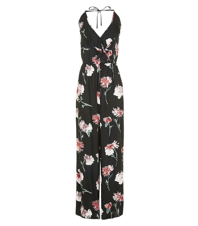 best ruffled jumpsuit- Band of Gypsies Floral Ruffle Jumpsuit