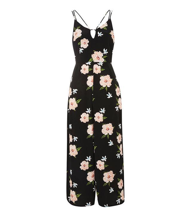 best floral-print jumpsuit- Topshop Strappy Floral Jumpsuit