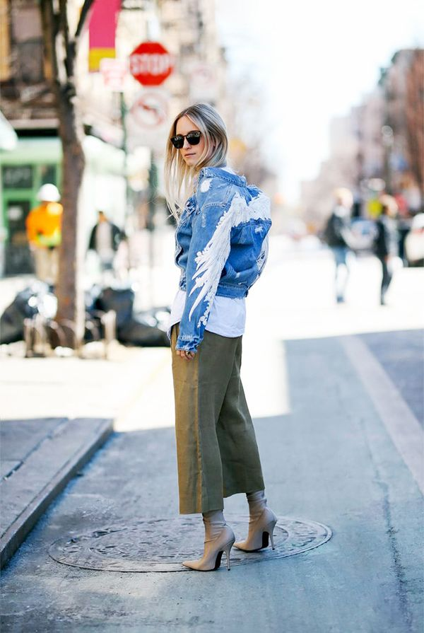 what to wear with culottes - balenciaga over the knee boots