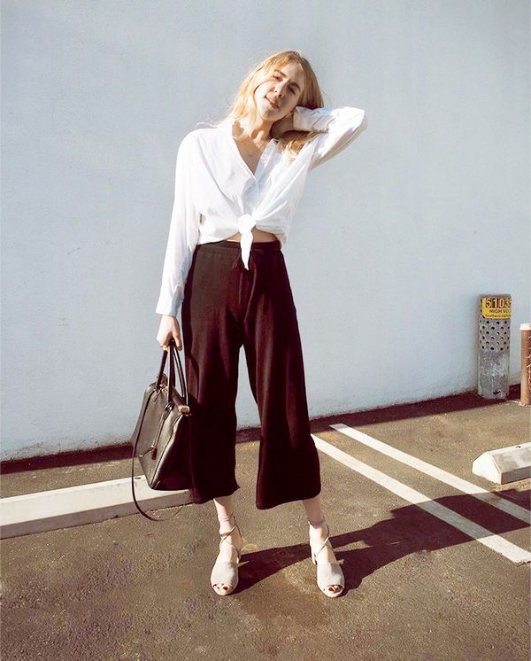 what to wear with culottes - dear frances shoes