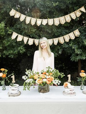 How a Fashion Designer Turned Her Backyard Into a Whimsical First Birthday Party