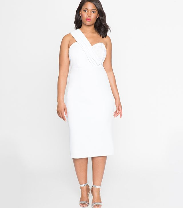 Eloquii Sweetheart One Shoulder Dress