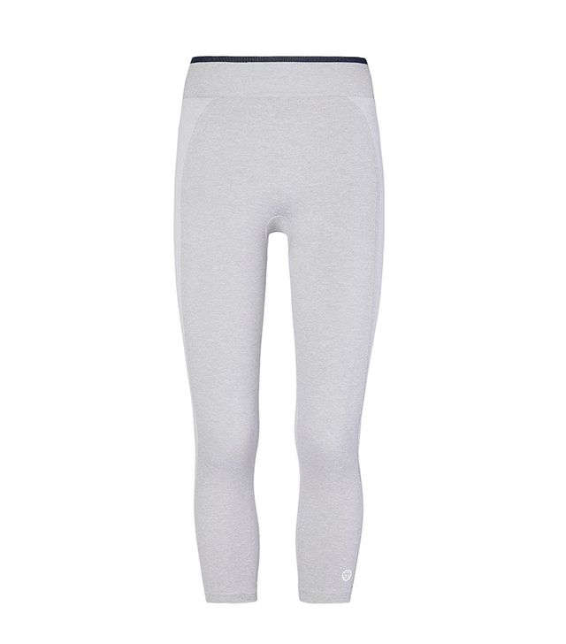 cute yoga outfits - Tory Sport Seamless Cropped Leggings