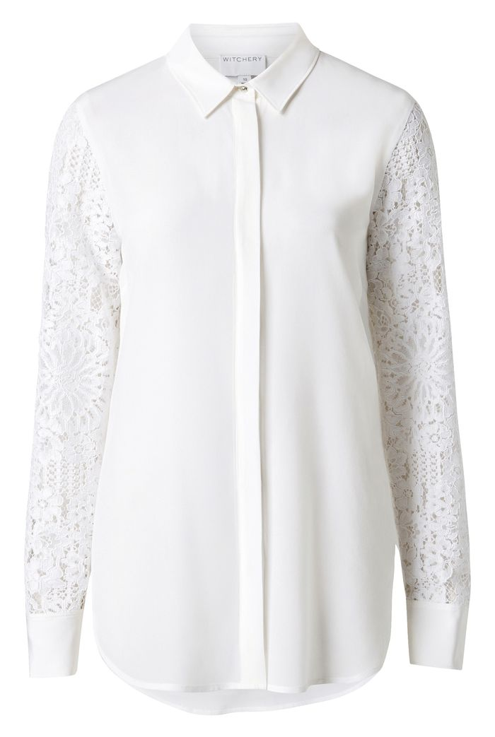 Witchery Silk Lace Shirt