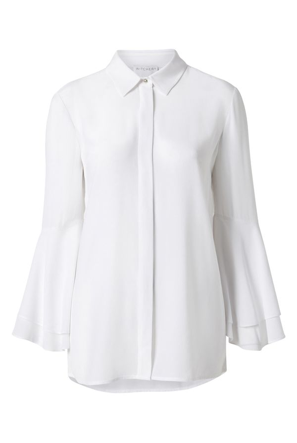 Witchery Flutter Sleeve Shirt