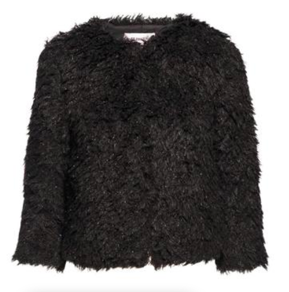 black faux fur jacket - BB Dakota Faux Fur Jacket