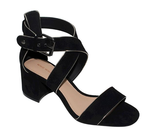 best black block heel sandal