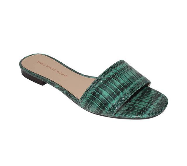 best slide sandals snake print