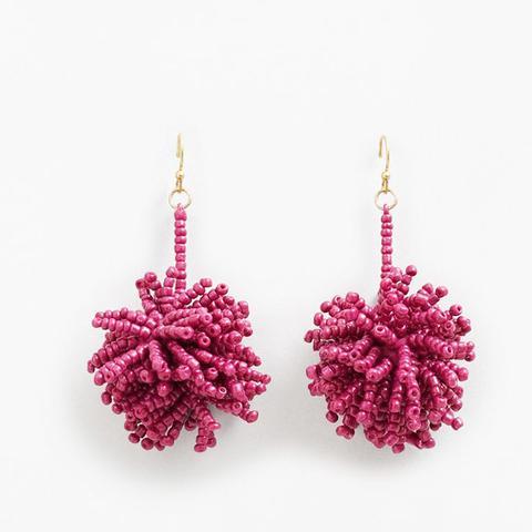 Beaded Pendant Earrings