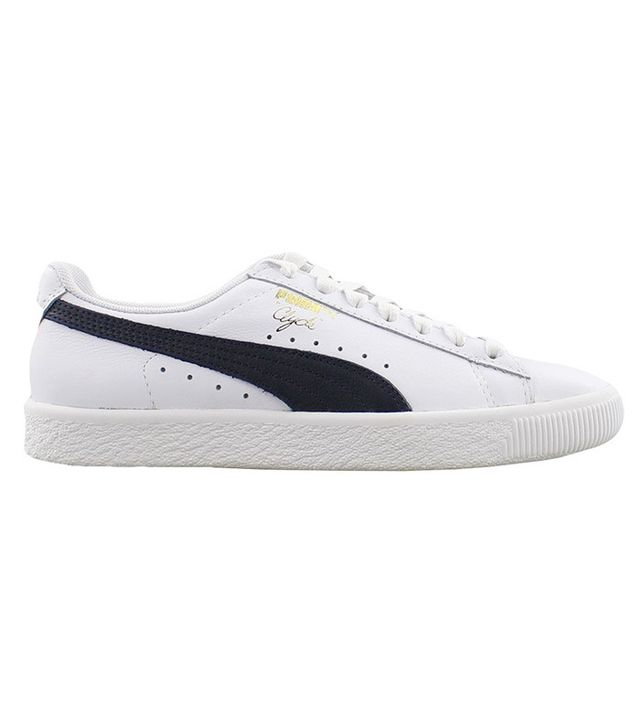 best classic white sneakers- Puma Clyde