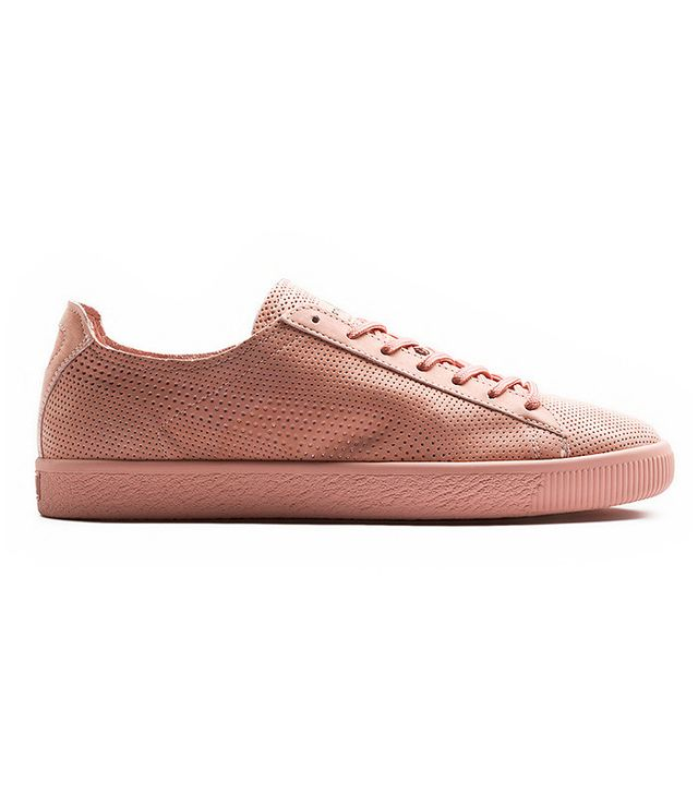 best pink sneakers- puma clyde