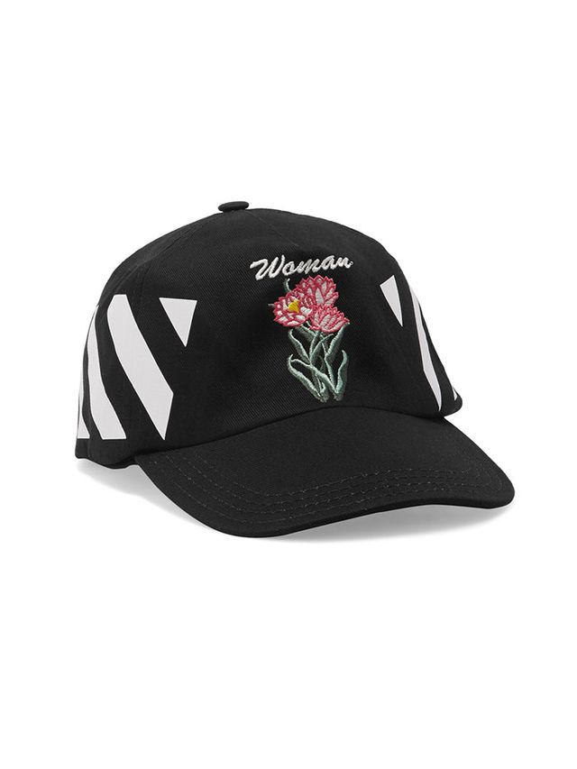 Off-White Embroidered Cotton-Twill Cap