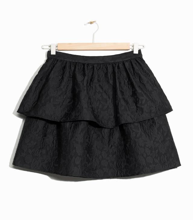 & Other Stories Jacquard Ruffle Skirt