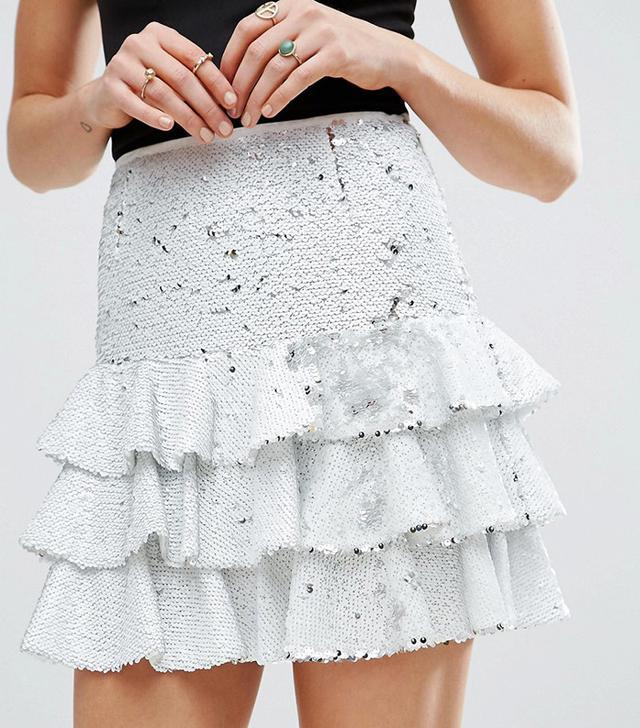 ASOS Sequin Rara Mini Skirt