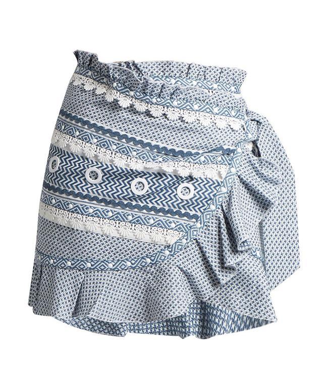 Dodo Bar Or Abigail Ruffle-Trimmed Cotton Skirt