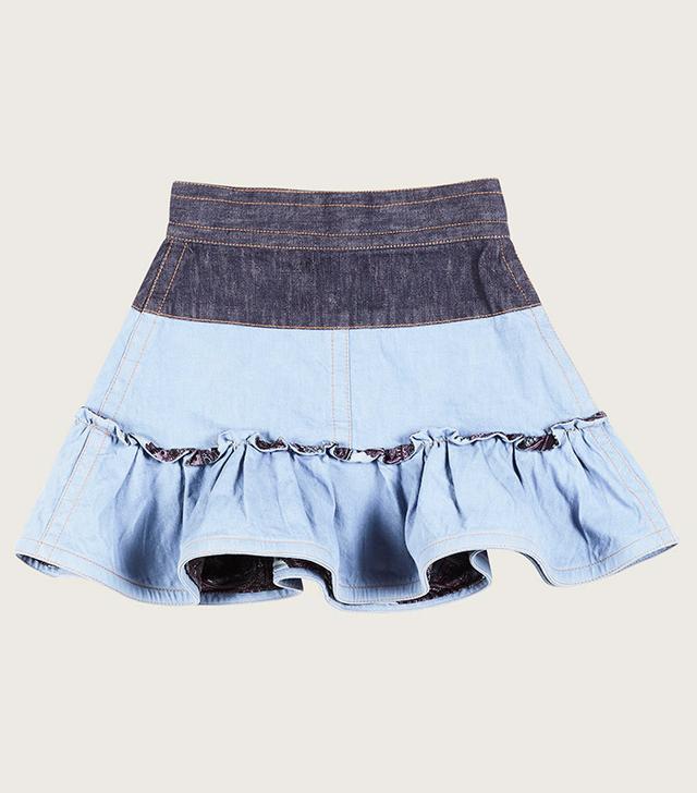 Marc Jacobs Color Warp Denim Mini Skirt