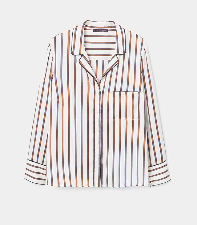 best plus-sized blouse: violeta by mango Flowy Striped Blouse