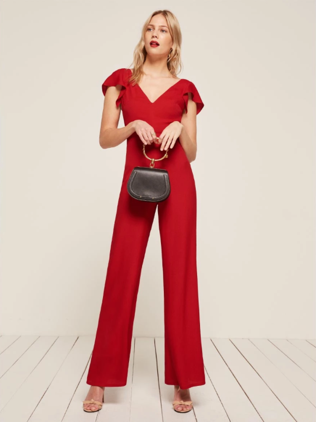Reformation Cozumel Jumpsuit in Cherry