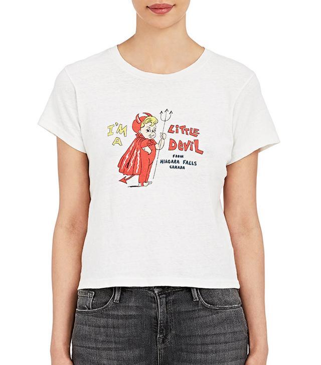 Re/done Little Devil From Niagara Falls Cotton T-Shirt