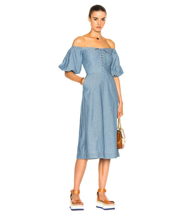Sea Lace Up Maxi in Blue
